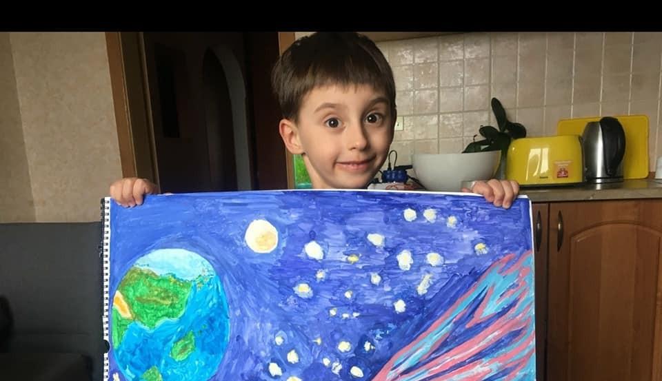 """Онлайн заняття у Центрі Дитинства на тему """"Космос"""""""