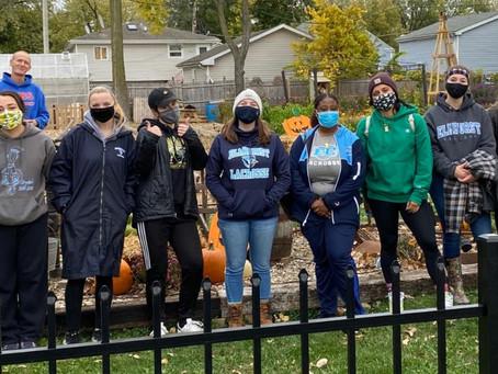 Elmhurst U lacrosse team
