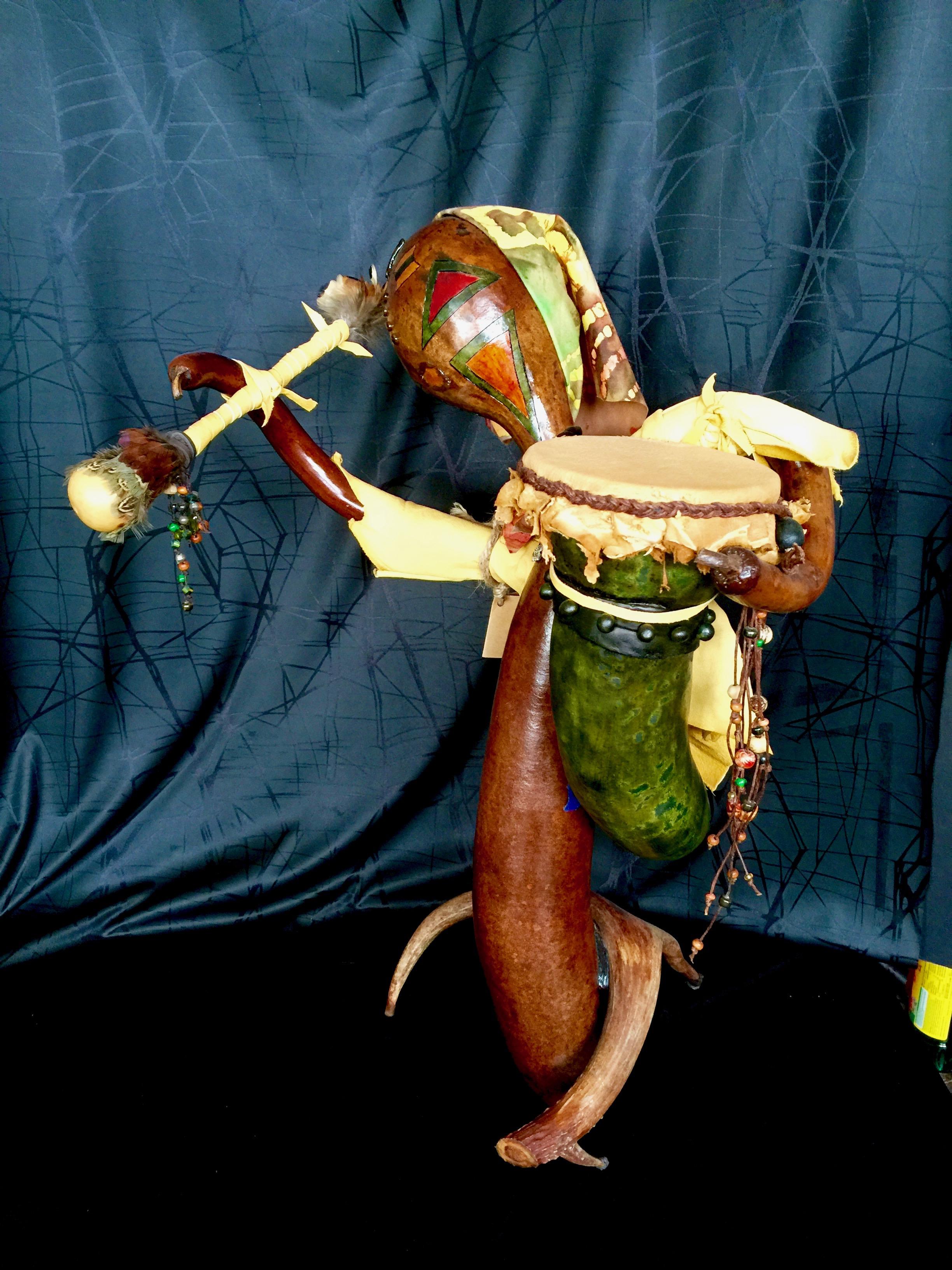 Gourd Lady Drummer