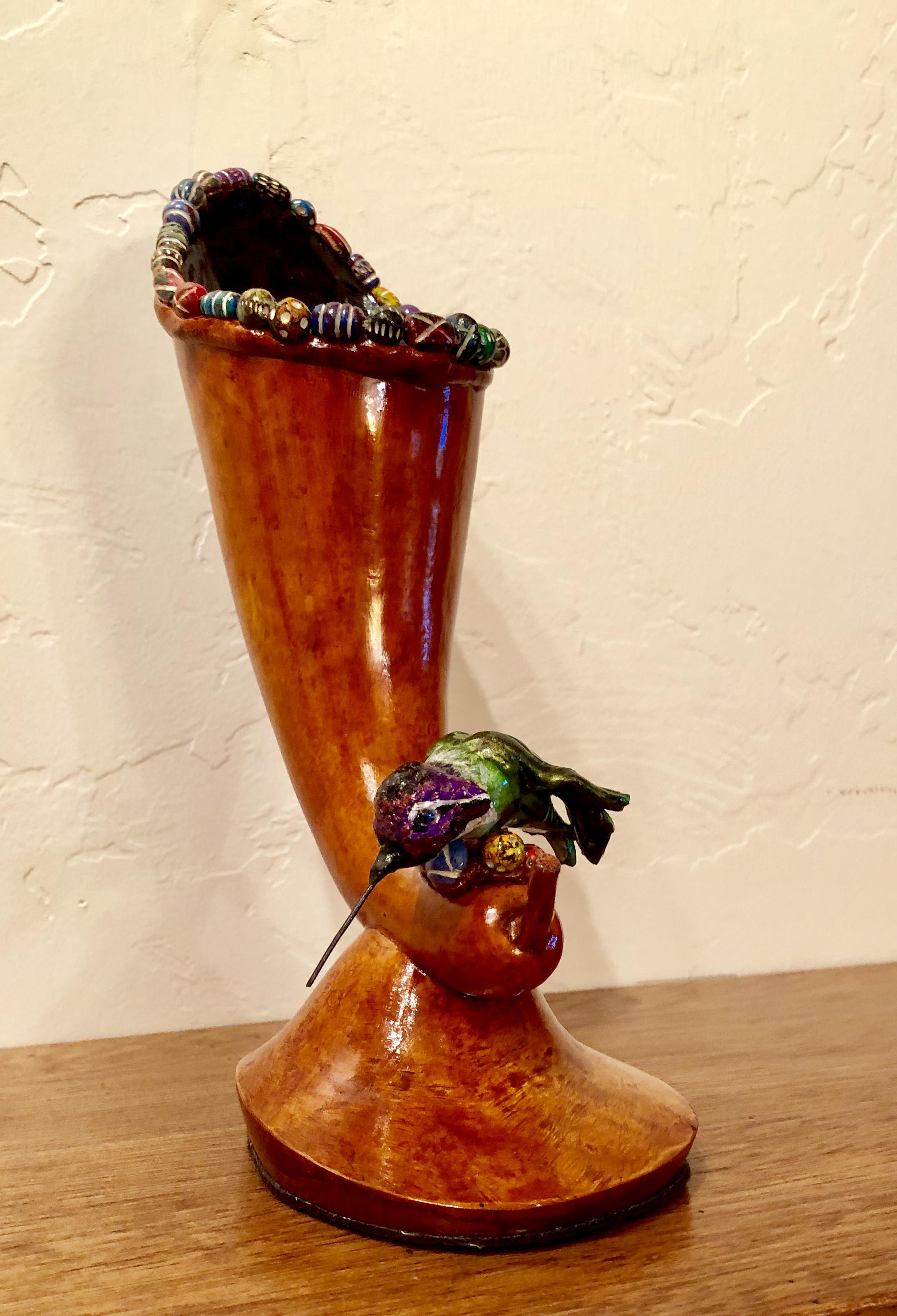Hummingbird Bud Vase