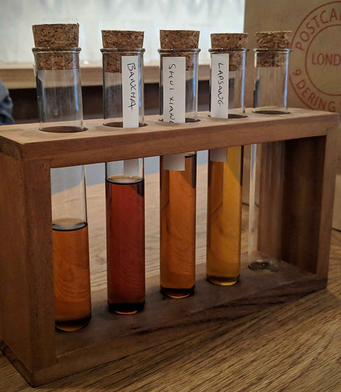 Distilled tea samples