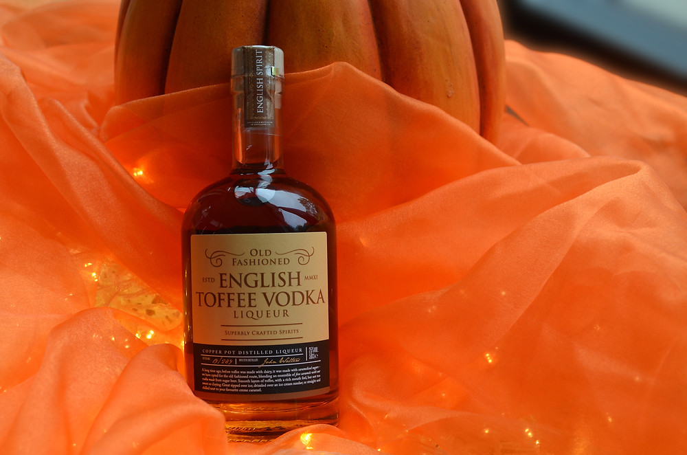Toffee Vodka Liqueur with pumpkin
