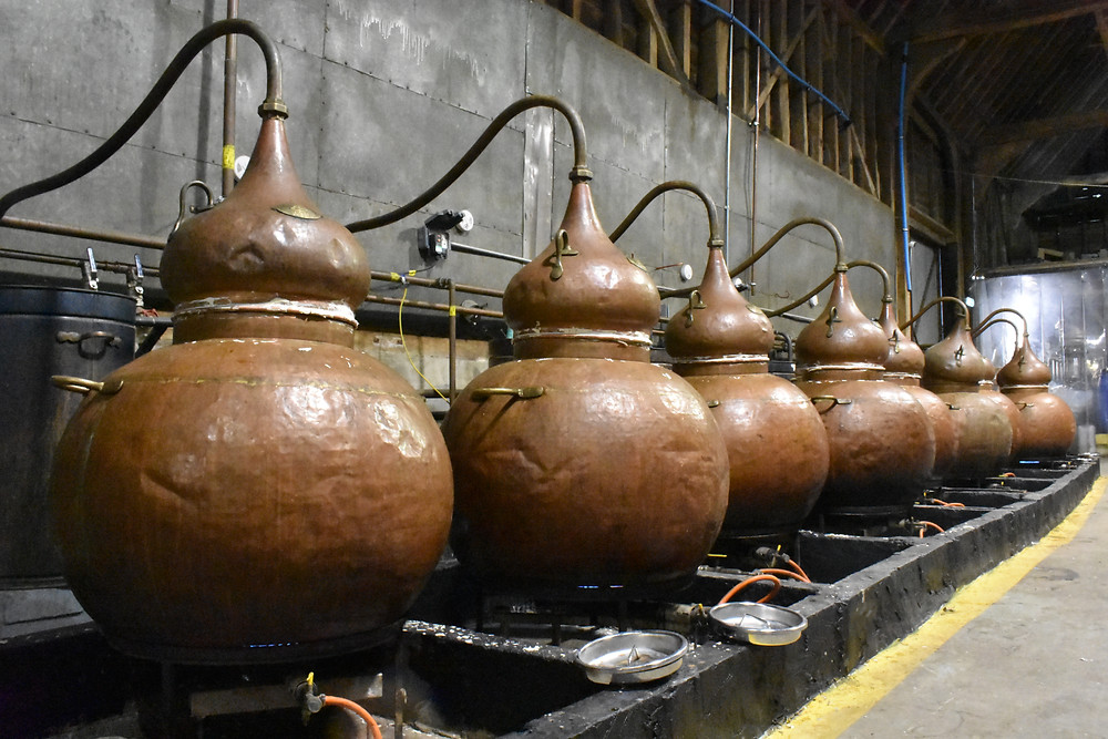 Small batch 200 litre copper pot alembic stills