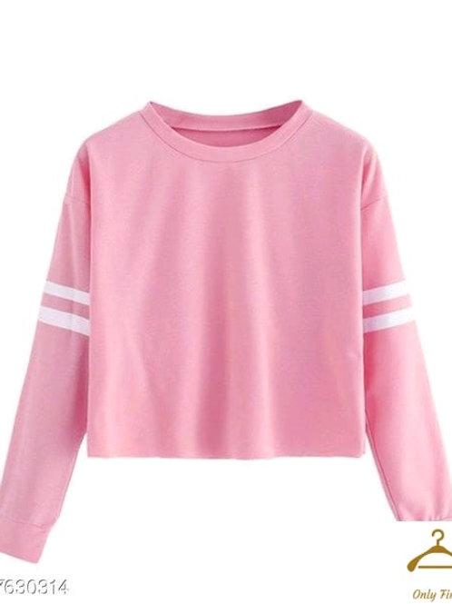 Classic Pink Glamorous Women Tshirts