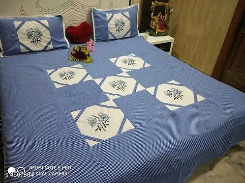 Attractive Pure Cotton 100x90 Double Bedsheets Vol 4