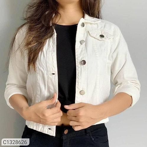 *Catalog Name:* Women's Solid Denim Jackets