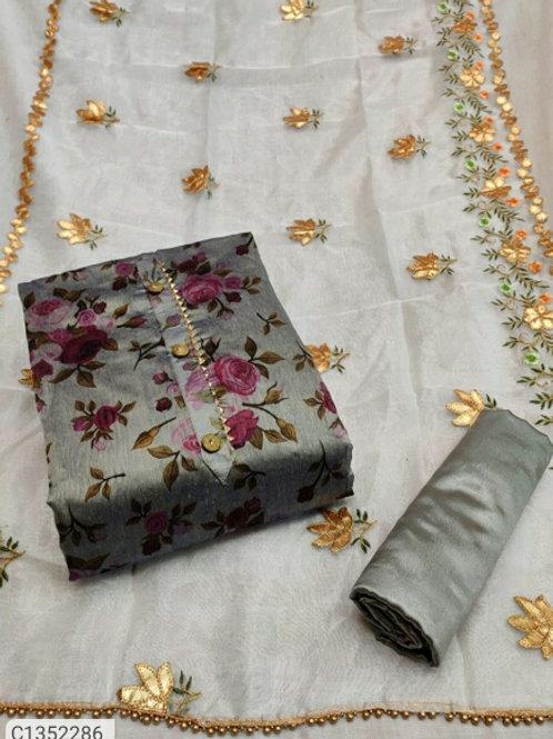 Adorable Floral Printed Semi Modal Dress Material