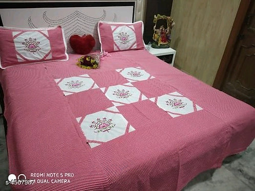 Attractive Pure Cotton 100x90 Double Bedsheets Vol 2