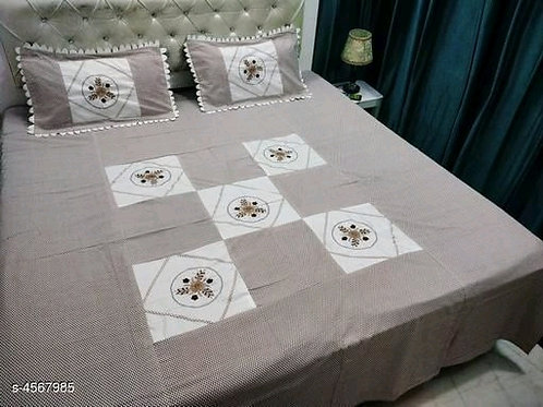 Attractive Pure Cotton 100x90 Double Bedsheets Vol 5
