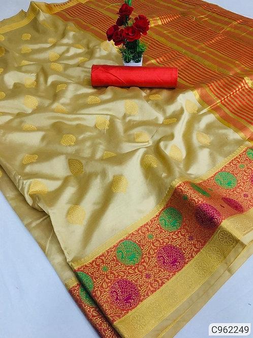 Attractive Banarasi Silk Jacquard Regular Saree