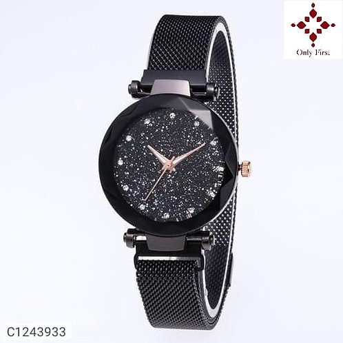 Black Women's Stainless Steel Watches