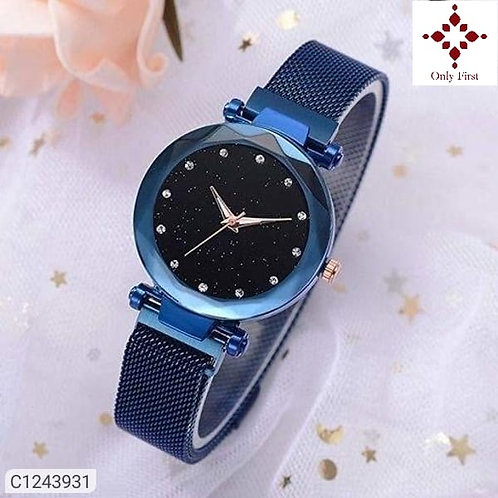 Blue Women's Stainless Steel Watches