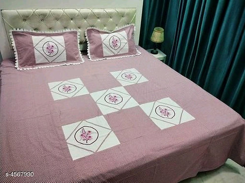 Attractive Pure Cotton 100x90 Double Bedsheets Vol 3