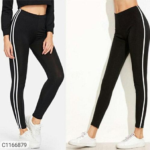 Buy 1 get 1 Free Women's Cotton Strips Sports Bottoms u4