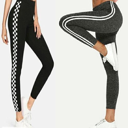 Buy 1 get 1 Free Women's Cotton Strips Sports Bottoms u1