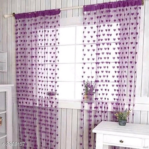 Fashionable Net Polyester Door Curtains Combo Vol 10