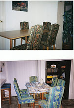 Dining Chairs Re-uphosltered Before and after images