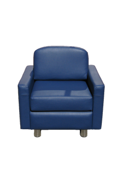 Albany Armchair Front Blue Leather