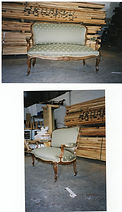 Victorian Sofa re-upholsteed in green fabric and restored