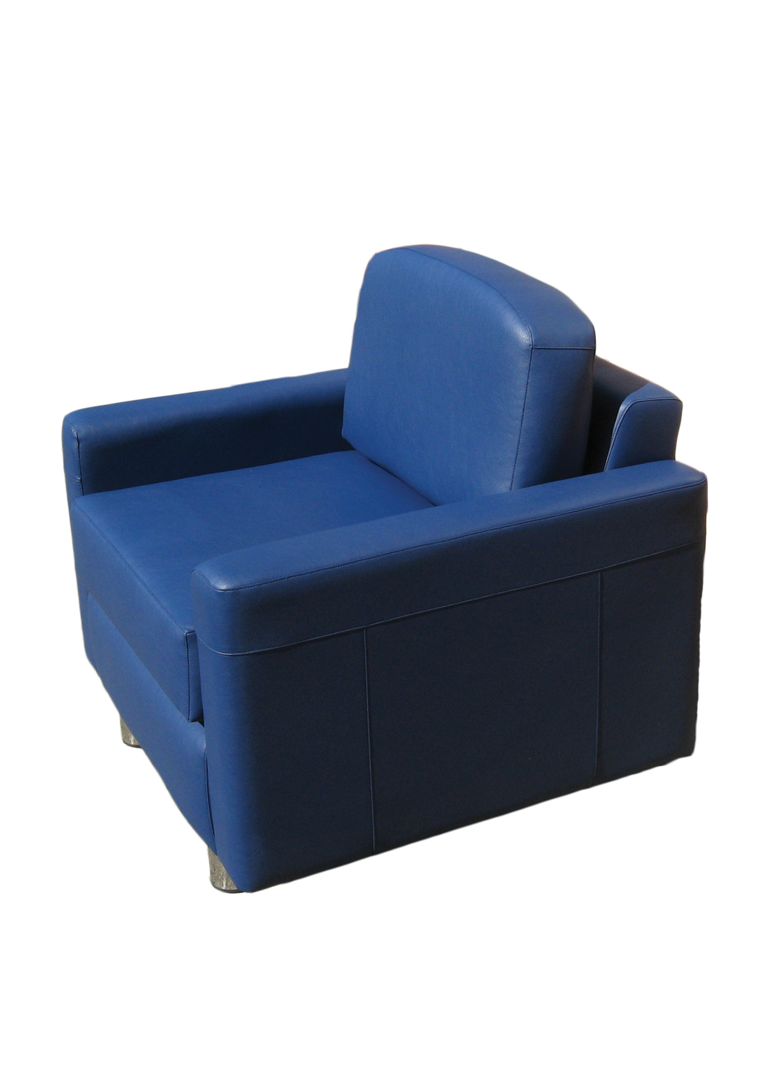 Albany Armchair Side Blue Leather