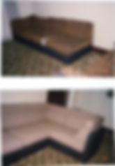 Corner Modular Lounge Re-Upholstered in Cream Fabric