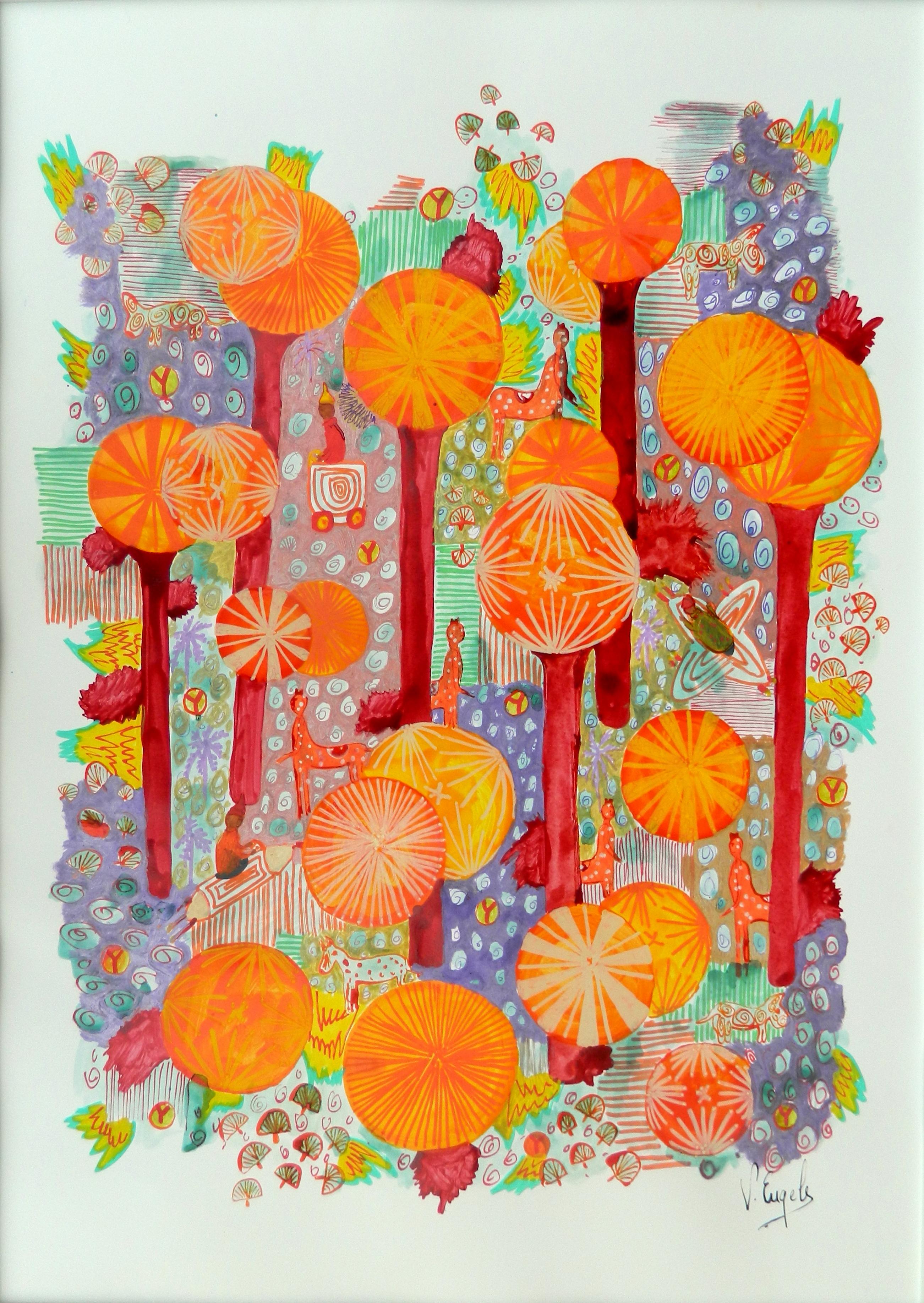 Les soleils oranges