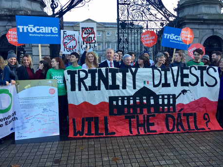 Fossil Fuel Divestment Bill submitted to Irish parliament.