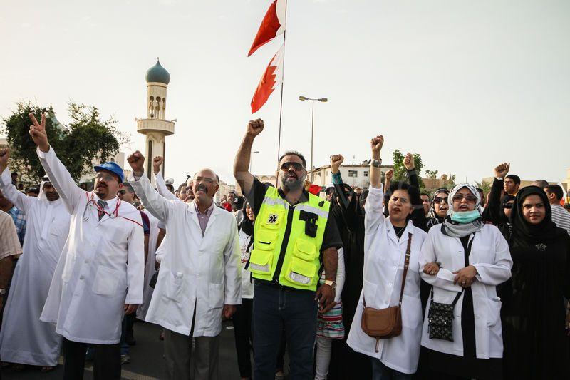 Bahrain doctors protesting Arab Spring crackdown in 2011