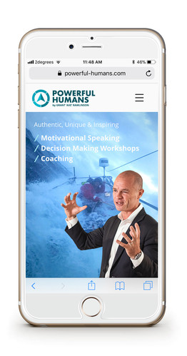 Powerful Humans mobile site