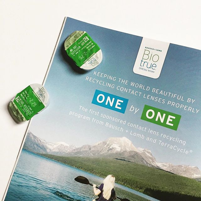 ONE by ONE contact lens recycling program