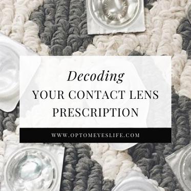 Decoding Your Contact Lens Prescription