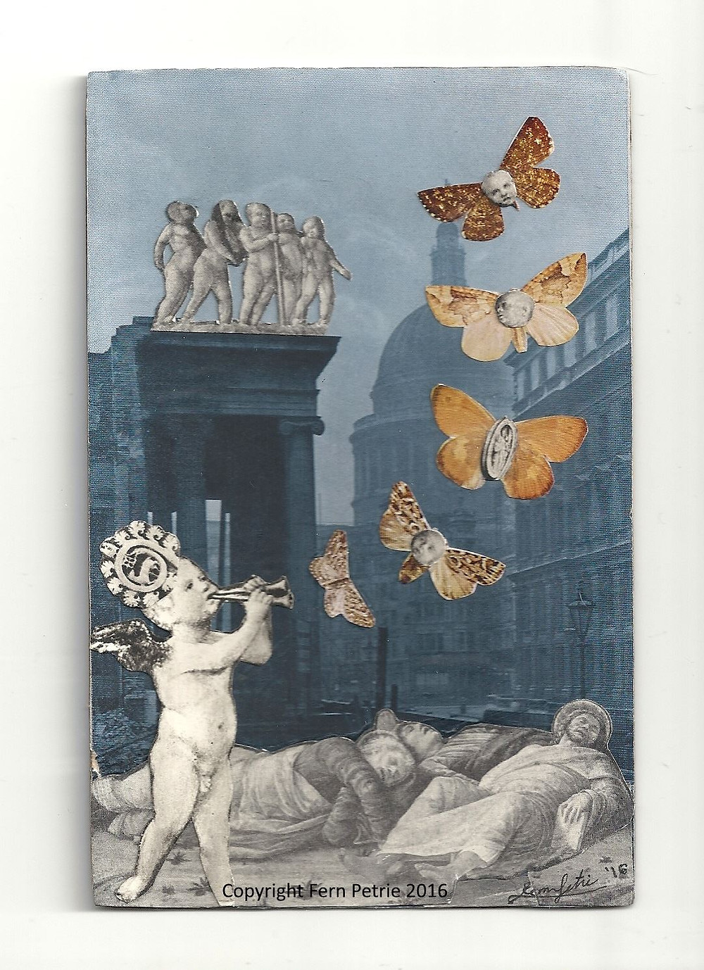 Stolen On The Wings Of A Dream, Collage, 16.5 x  10.7 cm, 2016.