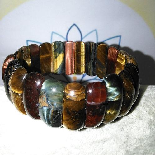 Bracelet œil de tigre 3 couleurs