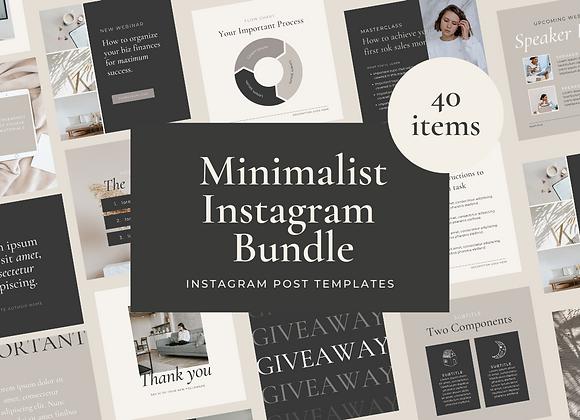 40 Minimalist Instagram Post Bundle