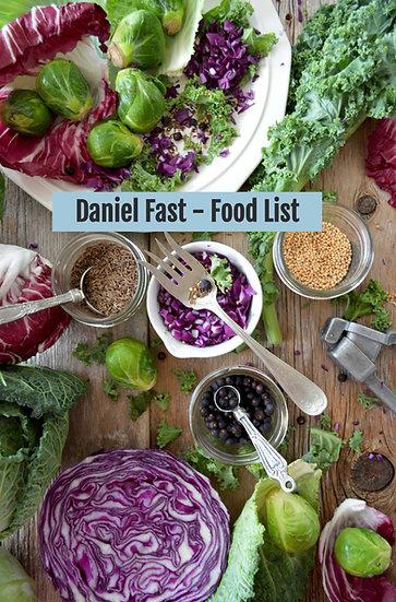 Daniel Fast - Food List