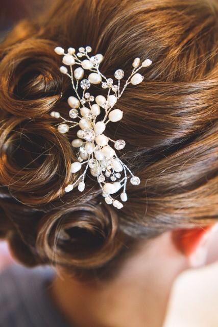 Bridal hair close up