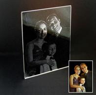 Foto de Família gravada no vidro