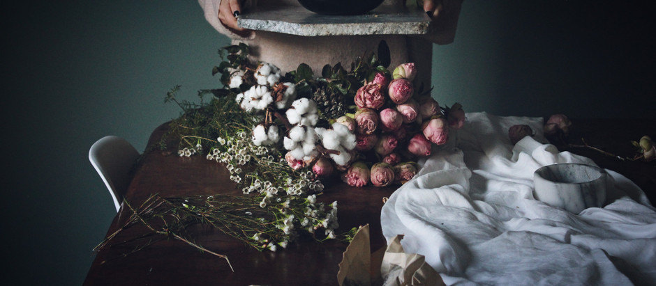 Flower design : Arranjo de inverno.