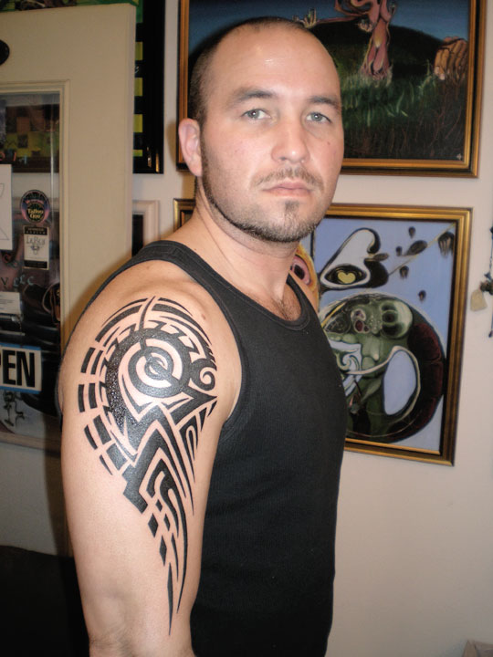 Freestyle tribal deltoid and bicep.