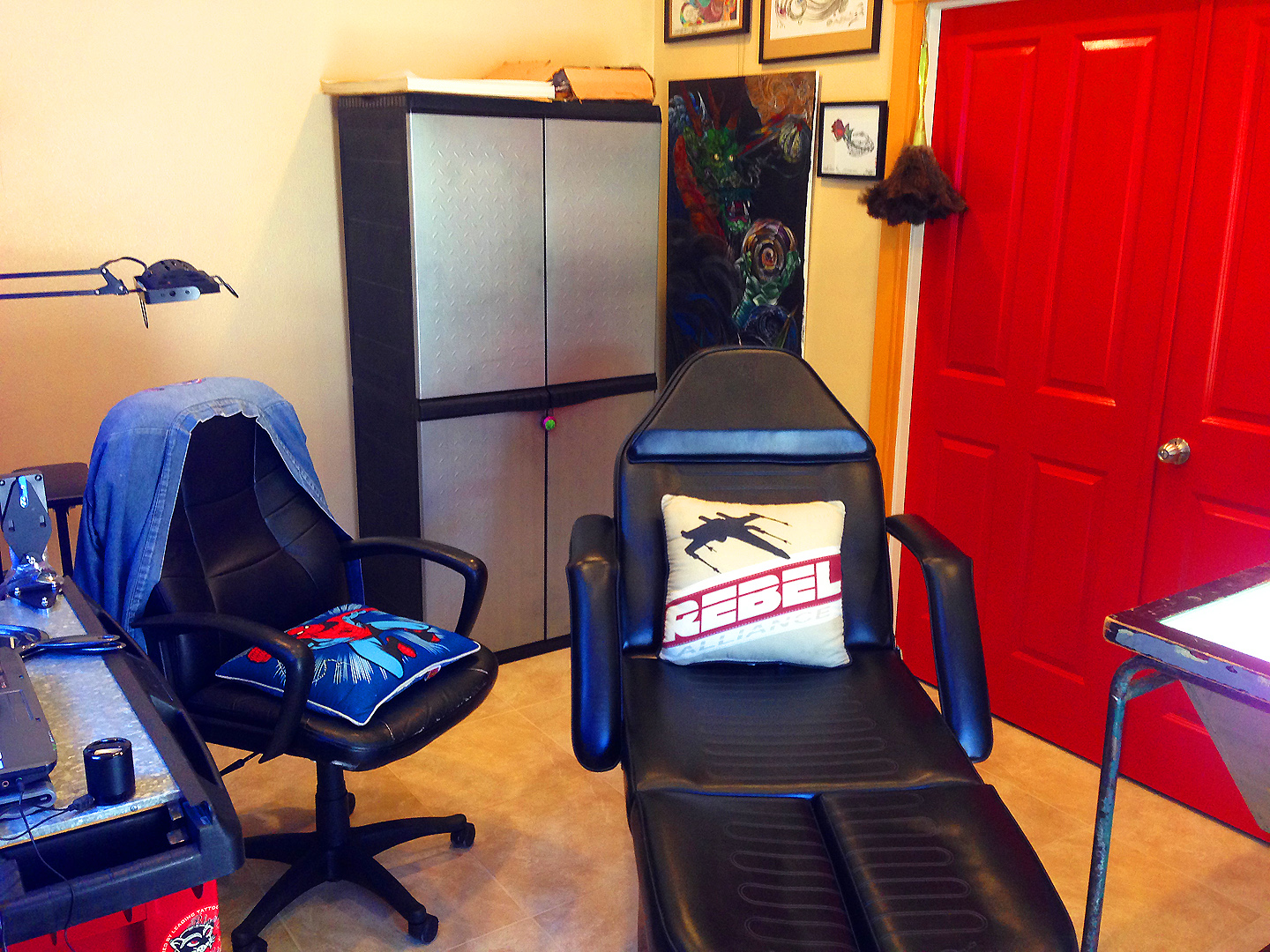 View of my client chair.