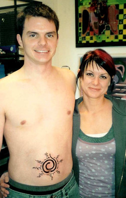 Brother and sister get inked.