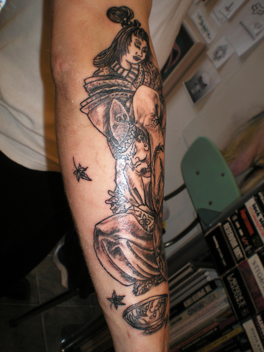 Samurai and Demon sleeve work.