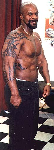 Alvin's tattoos.