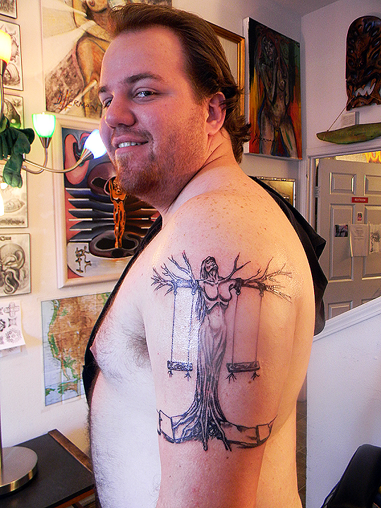 "My client and his ""Tree Woman""."