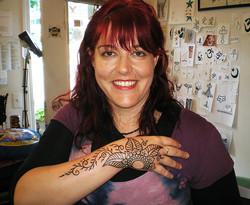 Heidi's permanent henna.