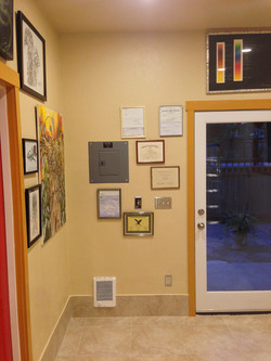 Beginning to hang licenses, and stuf