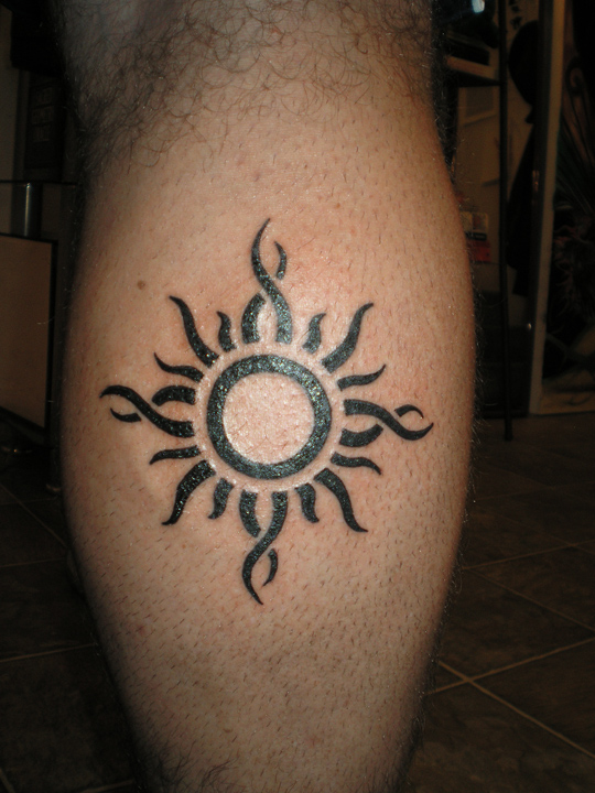A bro's new tribal sun.