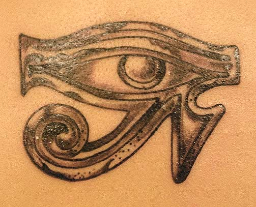 Eye of Horus details up close.