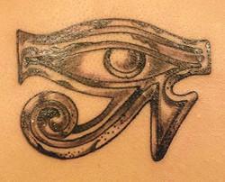 Eye of Horus details up close.