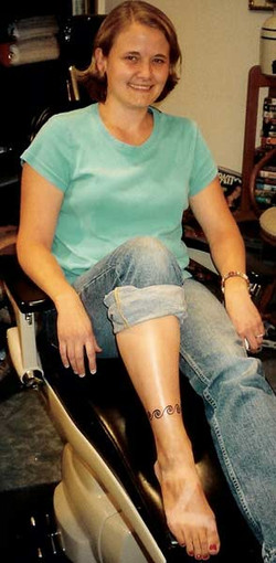 Client and a lovely ankle bracelet.